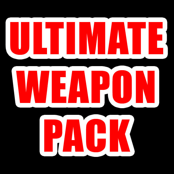 pack modern weapons 3d obj