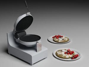 waffles chocolate strawberries max