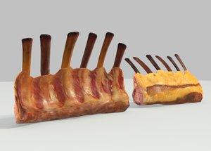 lamb rack 3d model
