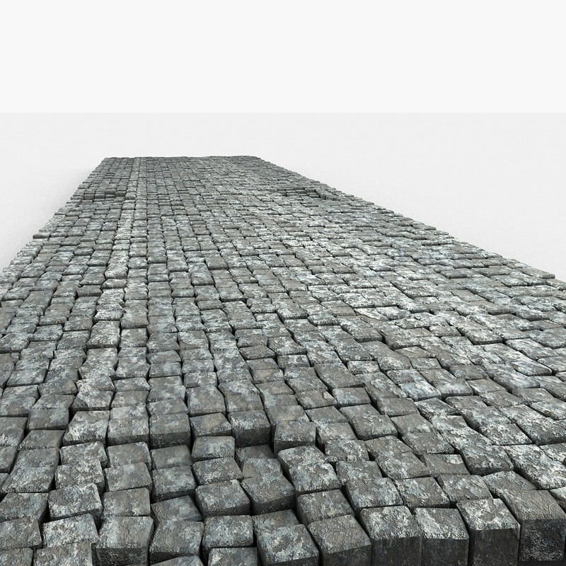 cobble stone block 3d model