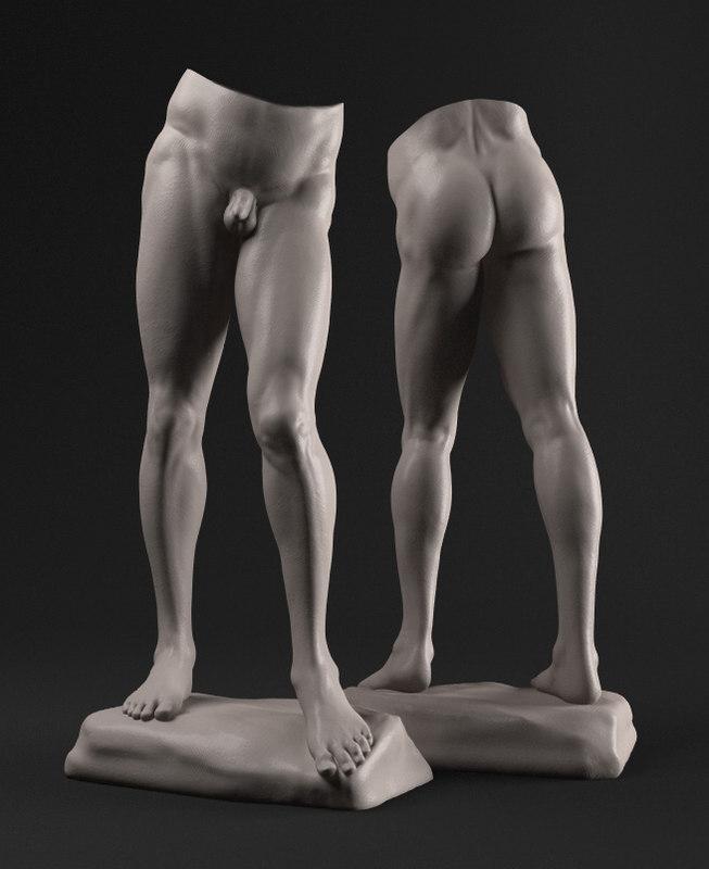 free obj model david sculpture