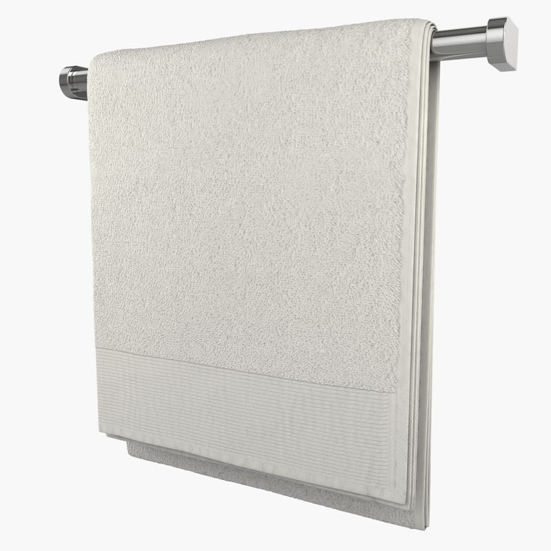 towel modelled 3d model