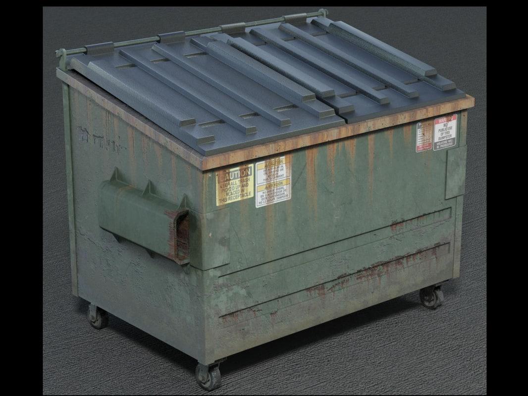 3d model dumpster dump
