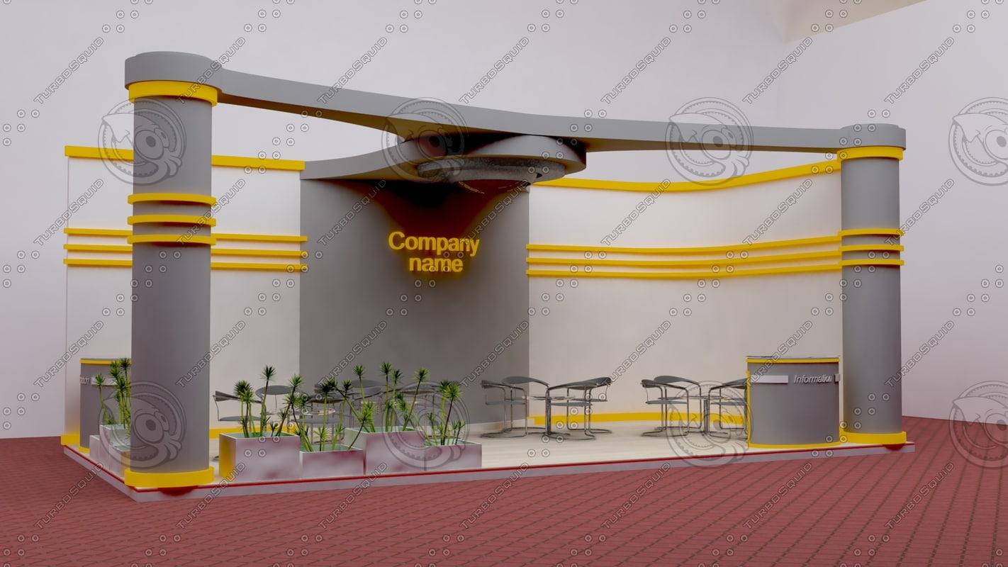 3d model pavilion exhibition
