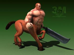 centaur mythological 3d model