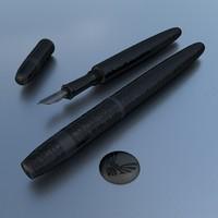 item pen 3d blend