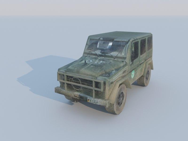 gelandewagen low-poly 3d model