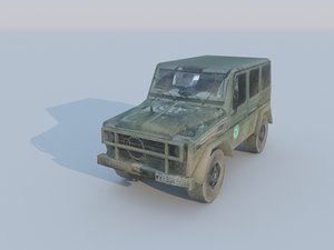 gelandewagen low-poly 3d model