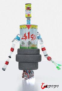 3d model garbage robot