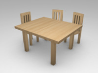 free obj mode table chairs