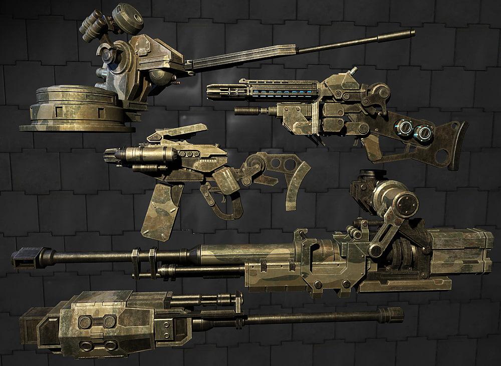 3d model of weapon gun