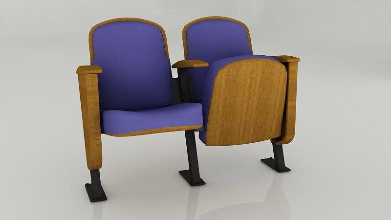 3d max seats auditorium school
