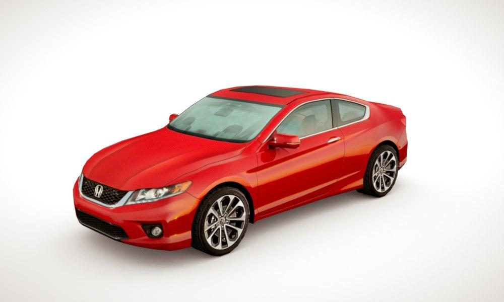 3d honda accord coupe 2013 model
