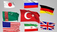 3d flags model