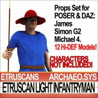 3ds max props set daz etruscan