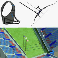 3ds max olympic archery