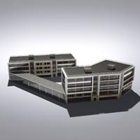 3d modern generic building