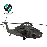3d uh64a blackhawk helicopter model