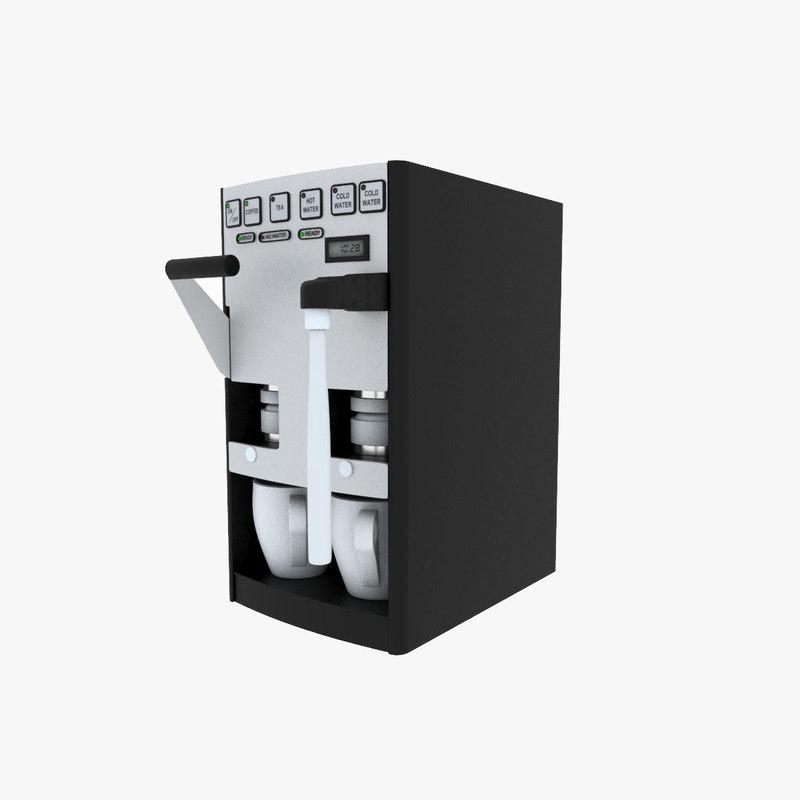 3d espresso maker model