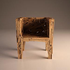 3d chair favela