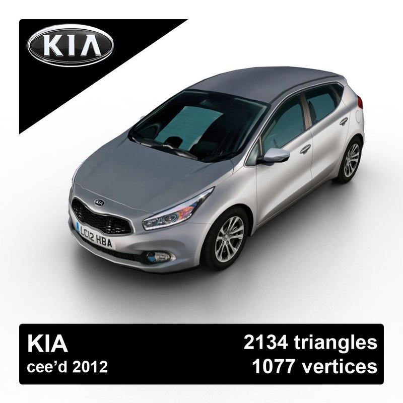 3d model 2012 kia cee d