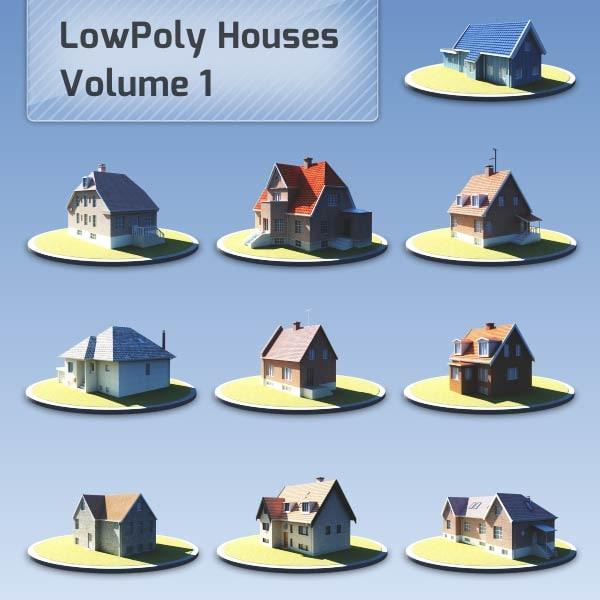 house suburban scandinavian 3d model