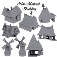 3d neo-medieval pack building