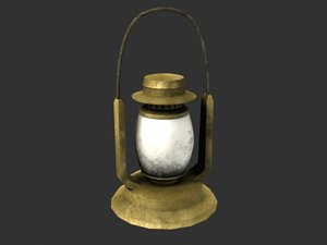 oil lamp 3d obj