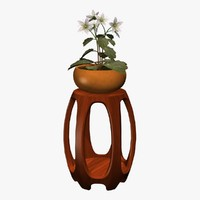 3d model plant stand