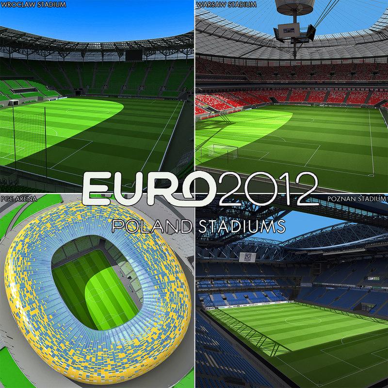 poland stadiums arena 3d max