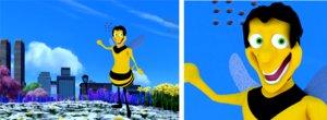 3d cartoon bee rig