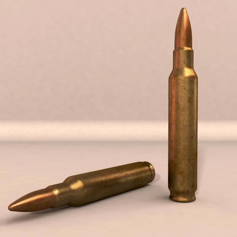 rifle bullets obj