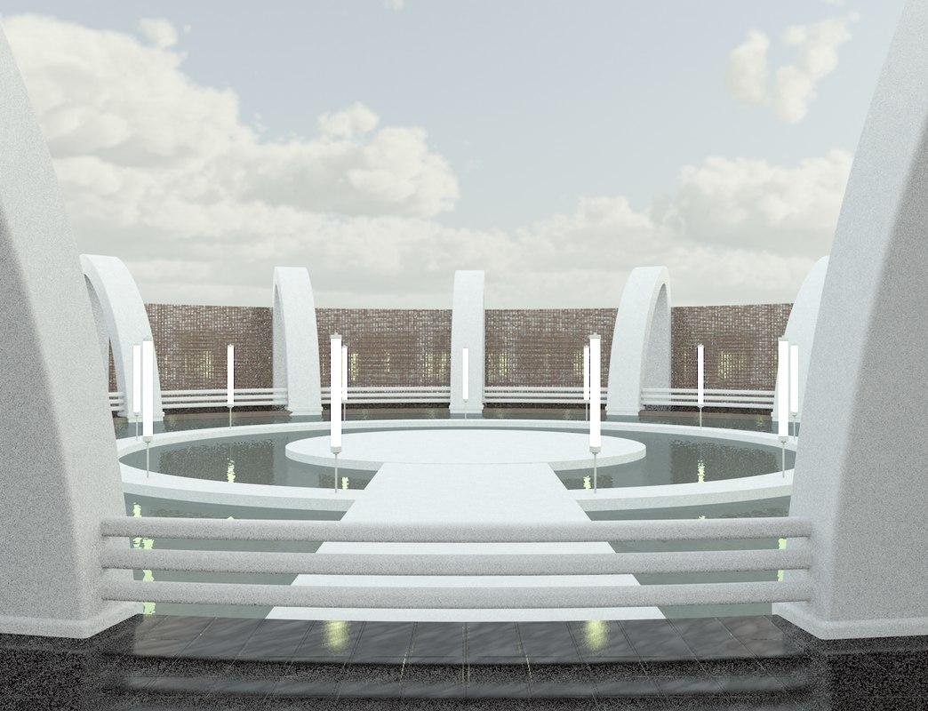 3d modern arena