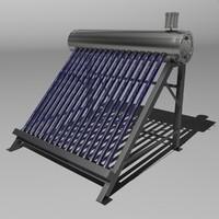 3d model solar water