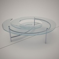 cattelan italia spiral coffe table 3d obj