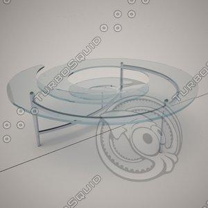 cattelan italia spiral coffe table 3d obj