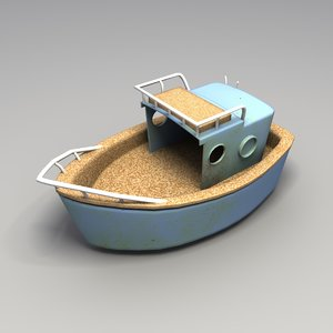 3ds max used plastic boat