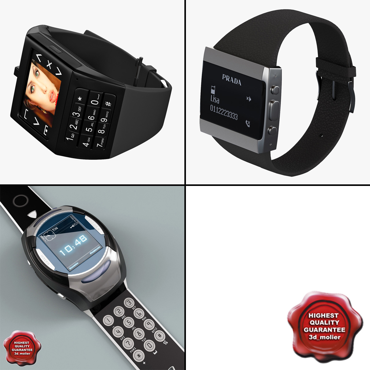 3d watch phones model