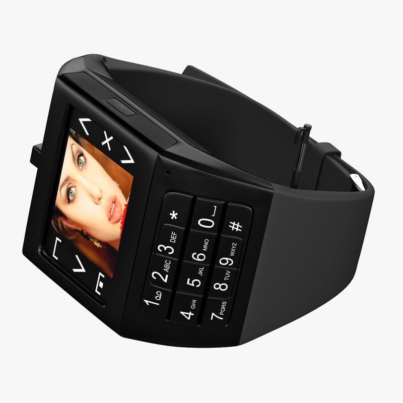 3ds max watchphone iwatch eg100 black