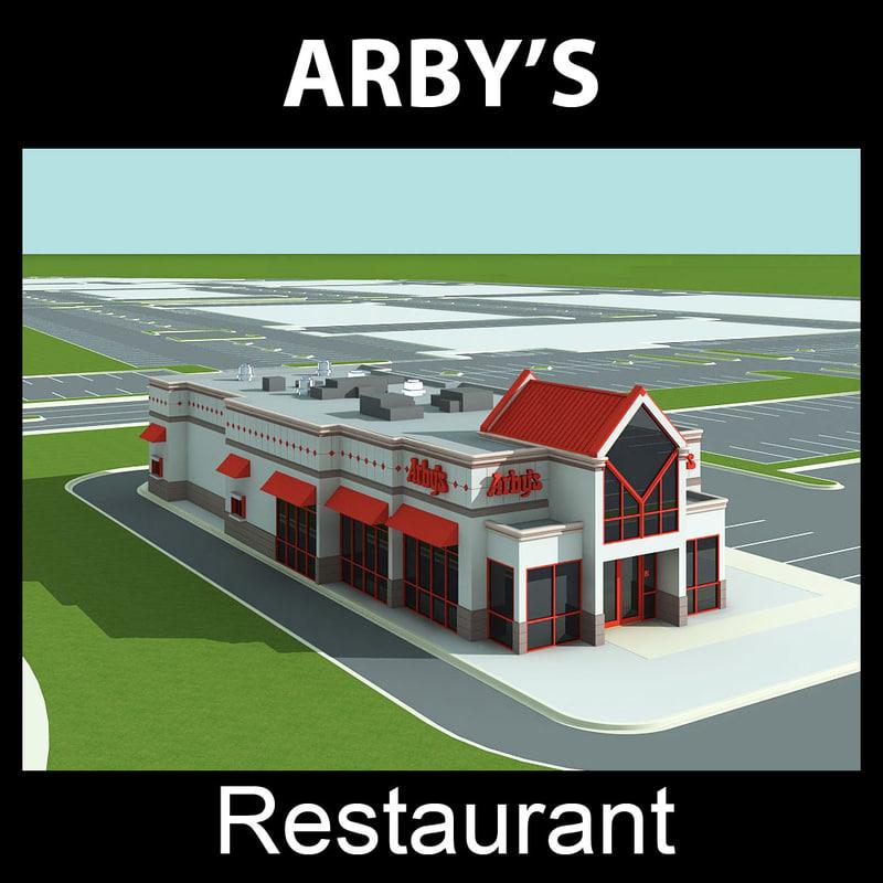 arby s restaurant 3d max