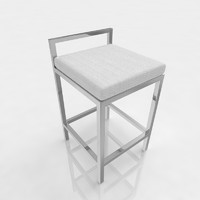 Bar stool 17 white canvas