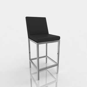 3ds max bar stool leather