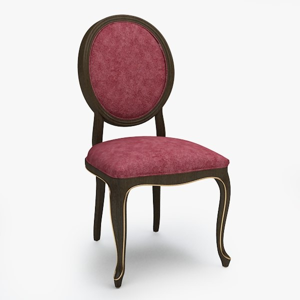 3d model chair old fashioned