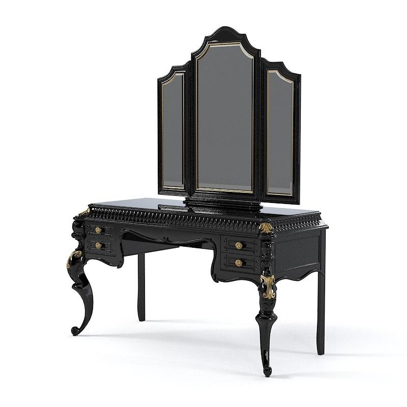 3d baroque makeup table model