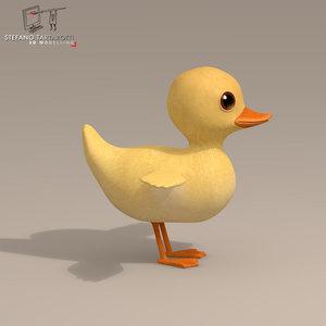 duck character 3d model