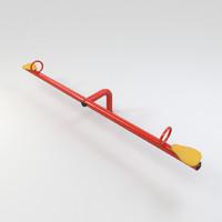 3d model swing teeter