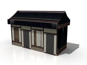 3d hut polygonal 1 model