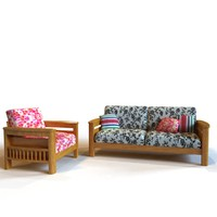 Lounge Wood Sofa