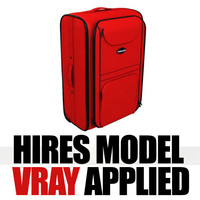 hires luggage 3d model
