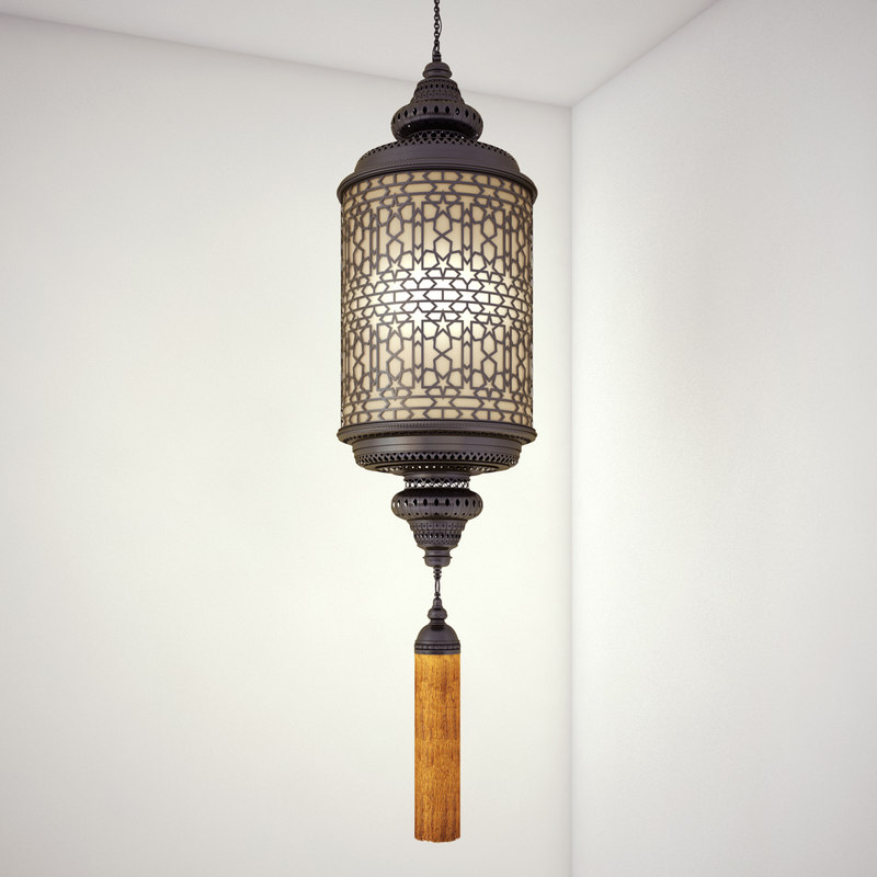 arabic middle eastern light 3d model